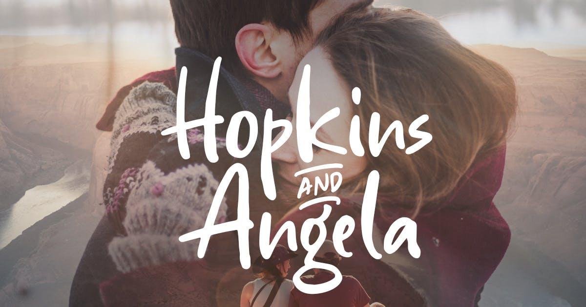 Download Hopkins Angela - Handwritten Font by letterhend