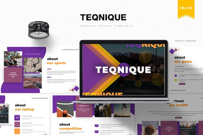 Thumbnail for Teqnique | Google Slides Template