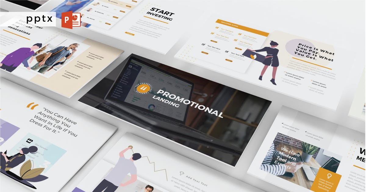 Download PROMOTIONAL LANDING - Powerpoint  V371 by Shafura