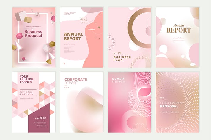 Thumbnail for Beauty brochure, annual report, cover designs