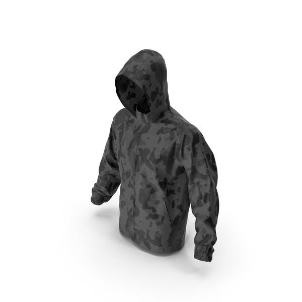 Black Military Jacket Hood