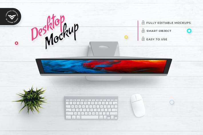Thumbnail for Top view Desktop Mockup