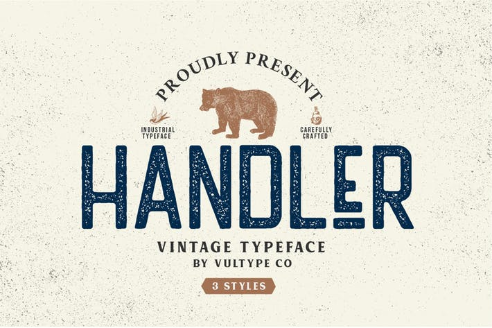 Thumbnail for Handler Stamp Font