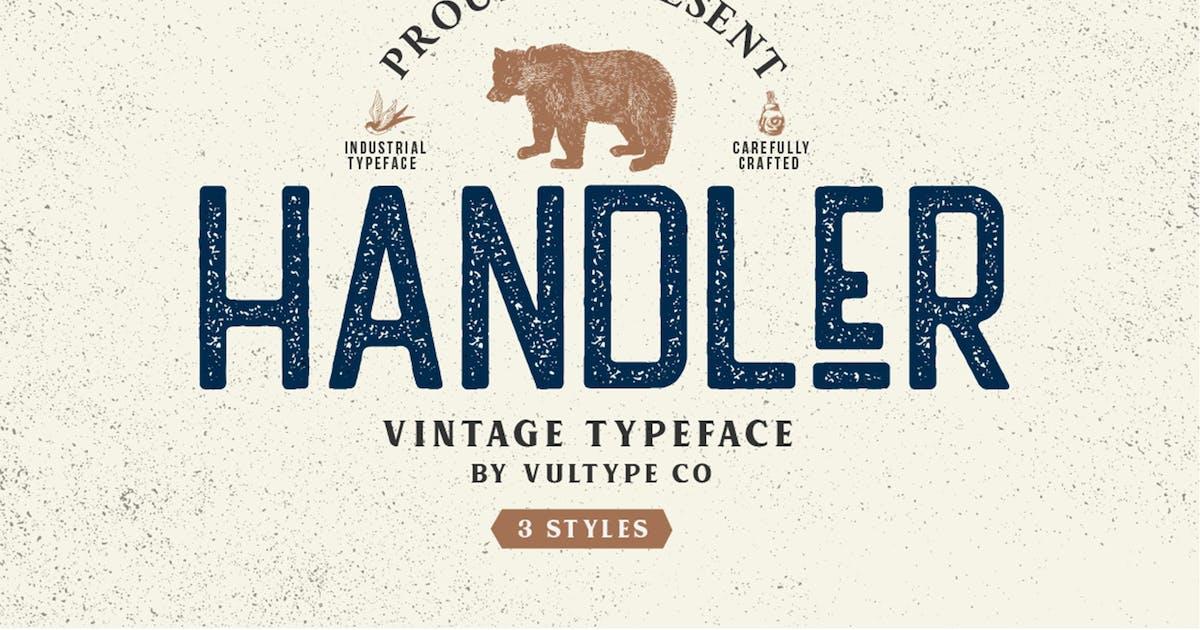 Download Handler Stamp Font by vultype