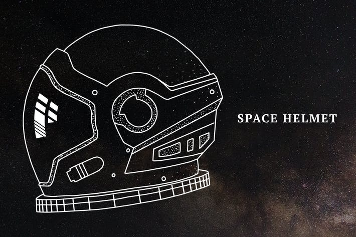 Thumbnail for Hand-Drawn Space Helmet