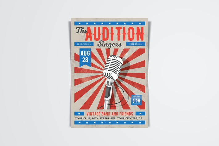 Cover Image For The Audition Flyer Template