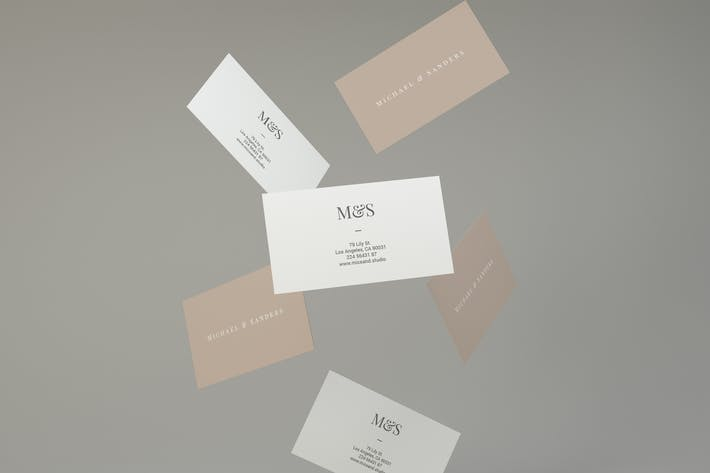 Thumbnail for Flying Business Card Mockups