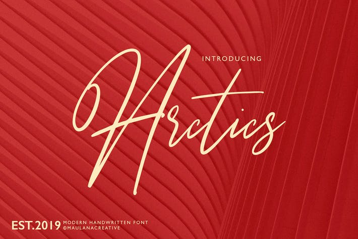 Thumbnail for Arctics Signature Brush Font