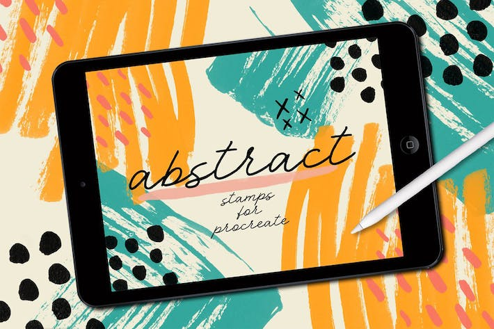 Thumbnail for Procreate: Abstract Stamp Brushes