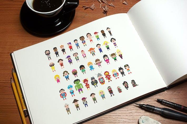 Thumbnail for Пиксельные символы
