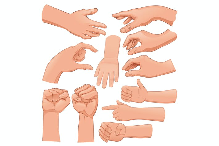 Thumbnail for Set of Several Hands