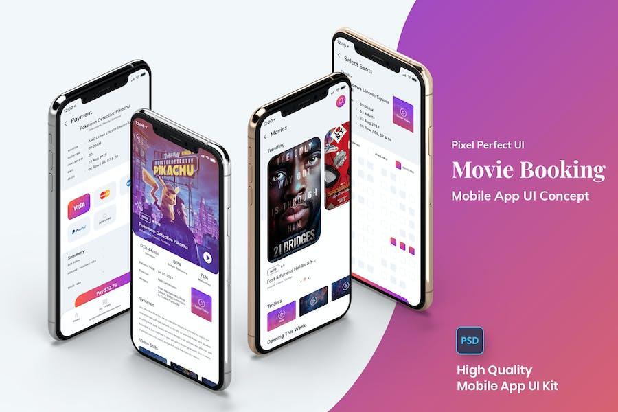 Movie Booking Mobile App UI Kit Light Version