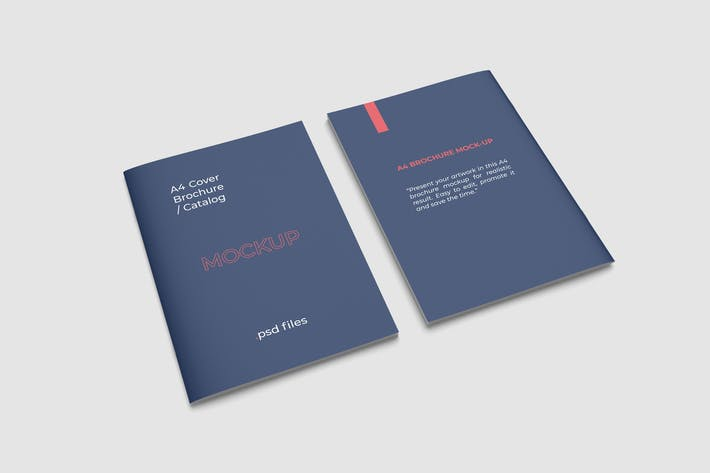 Front and Back Cover Brochure Mockups
