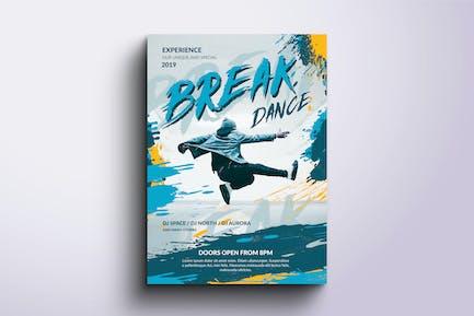 Break Dance Poster and Flyer Design