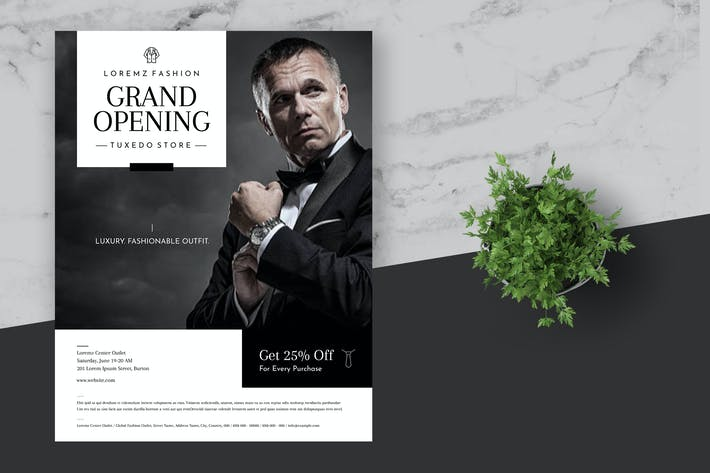 Thumbnail for Minimal Tuxedo Tailor Shop Flyer Template