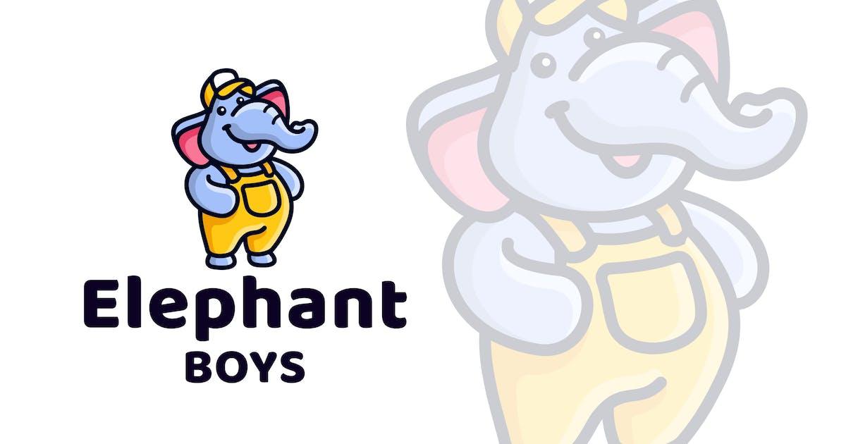 Download Elephant Boys Cute Kids Logo Template by IanMikraz