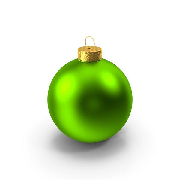 Зеленый Рождественский орнамент