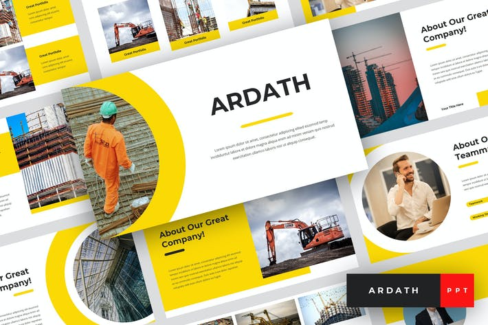 Cover Image For Ardath - Construction PowerPoint Template