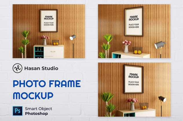 Blank Photo Frame Mockup - Nuzie