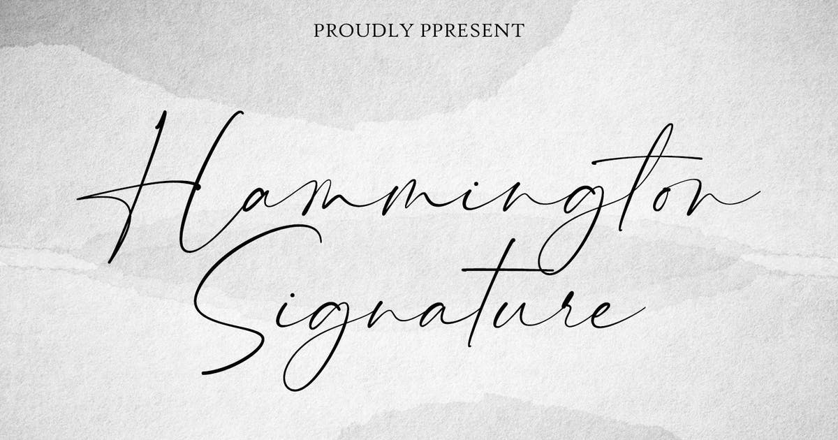 Download Hammington Casual Signature Script Font by maulanacreative