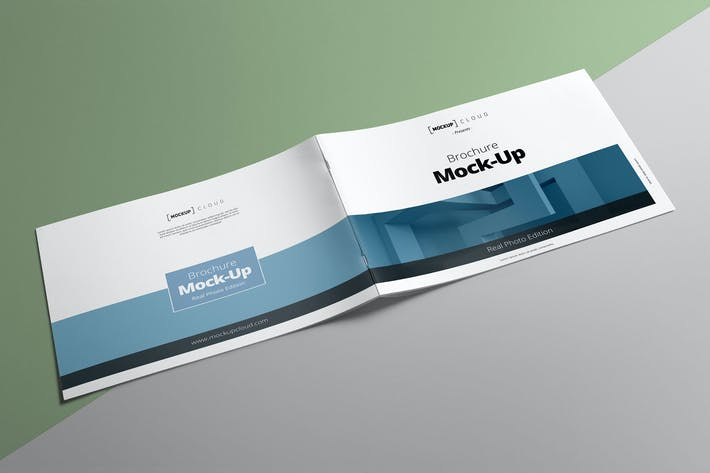 Thumbnail for Landscape Brochure Mockup