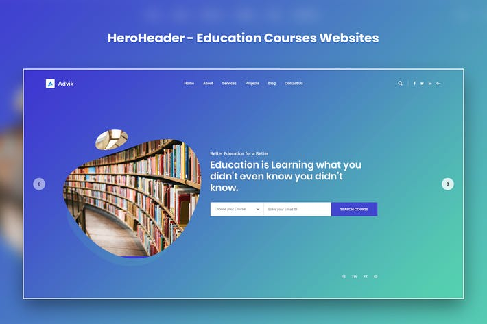 Thumbnail for HeroHeader for Education Courses Websites-19