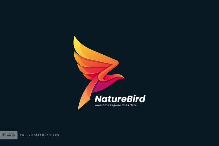 Thumbnail for Fly Bird Logo template