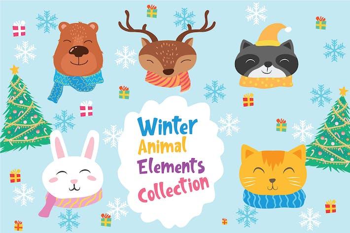 Thumbnail for Winter Animal - Vector Illustration