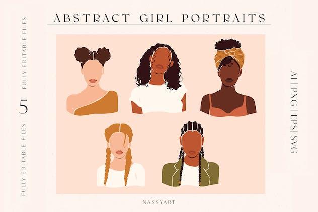 Abstract Woman Portrait Art