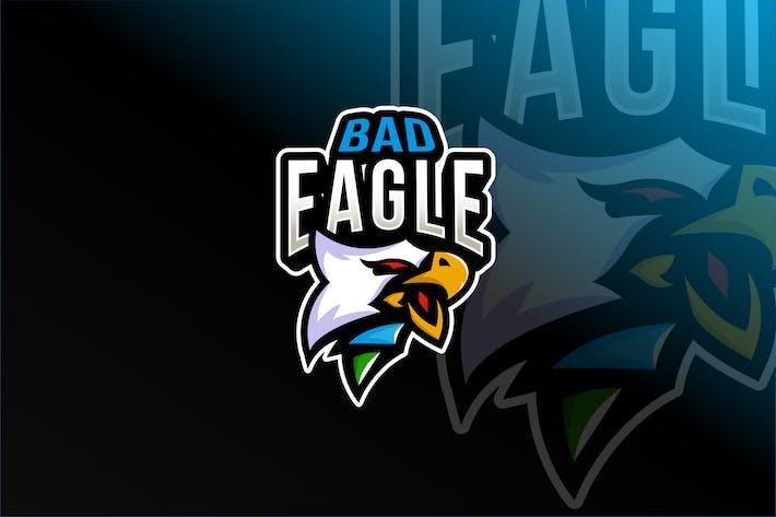 Thumbnail for Bad Eagle Esport Logo Template