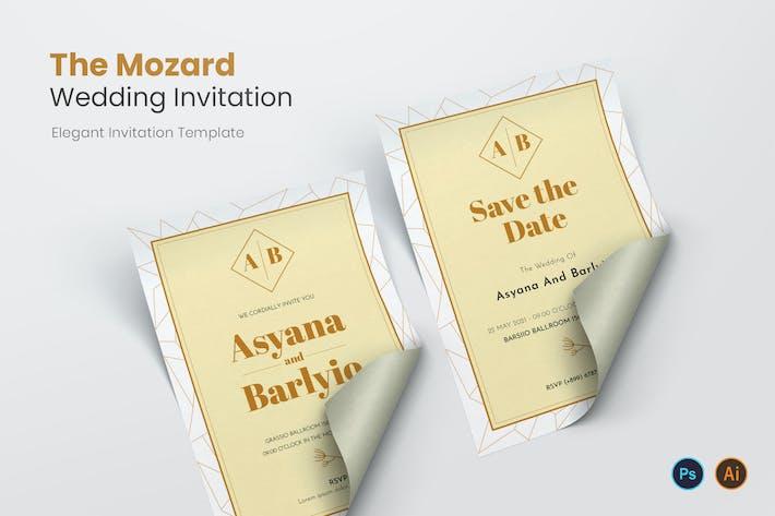 The Mozard Wedding Invitation