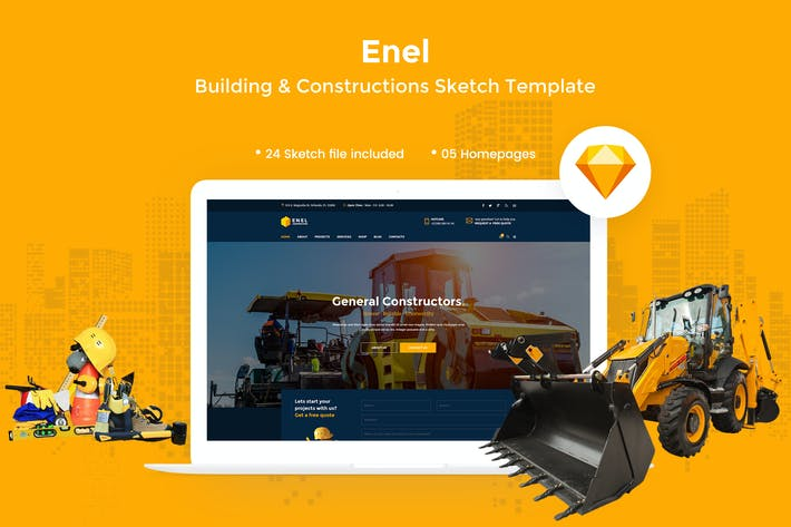 Thumbnail for Enel - Construction & Building Sketch Template