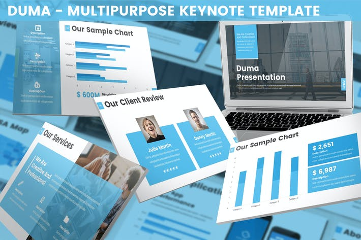 Thumbnail for Duma - Multipurpose Keynote Template
