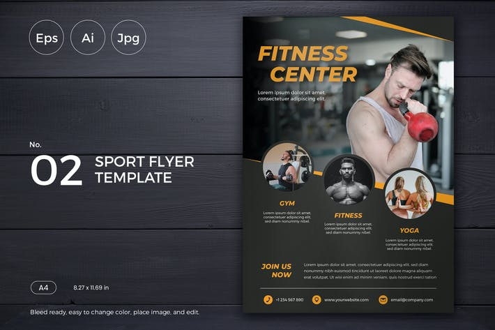 Thumbnail for Sports Event Flyer Template 02 - Slidewerk