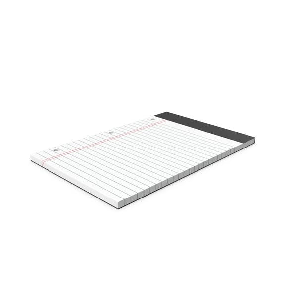 White Legal Pad With Holes