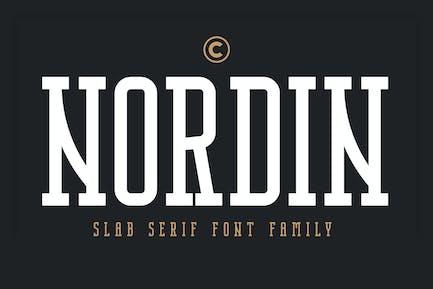 Nordin Slab - Condensed Slab Serif Font