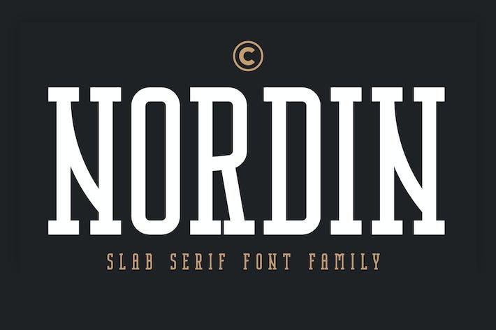Thumbnail for Nordin Slab - Fuente Con serifa de losa condensada