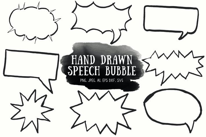 Thumbnail for 10+ Handdrawn Speech Bubble Cliparts