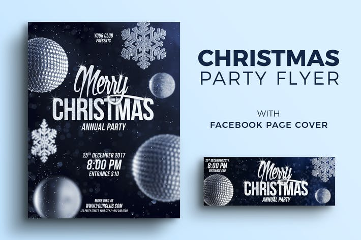 Thumbnail for Christmas Party Flyer and Facebook Cover