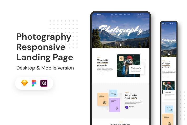 Thumbnail for Photography Responsive Landing Page