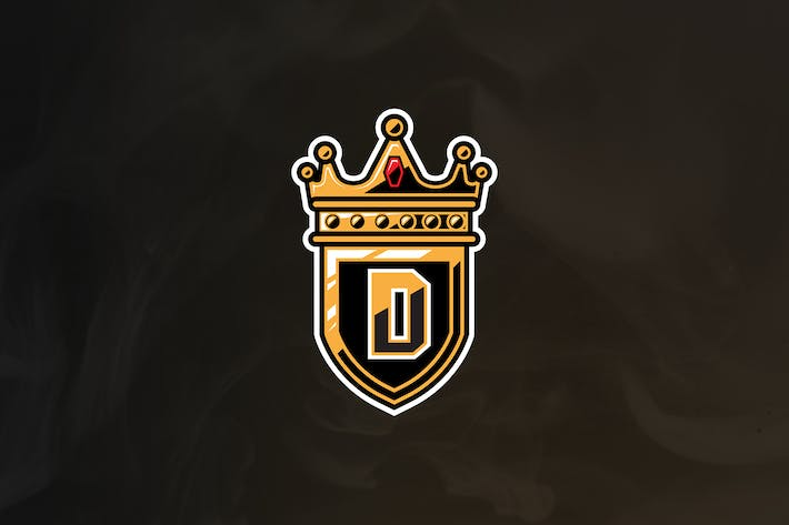 Crown King - Crown Mascot & Esport Logo V.1