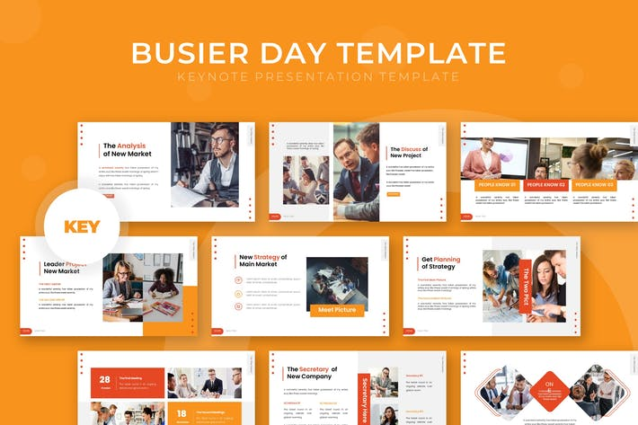Thumbnail for Busier Day - Keynote Template