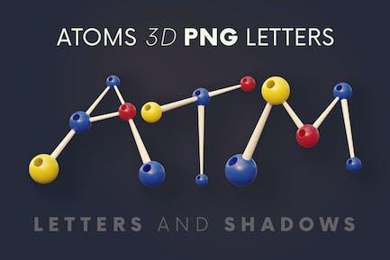 Atoms - 3D Lettering