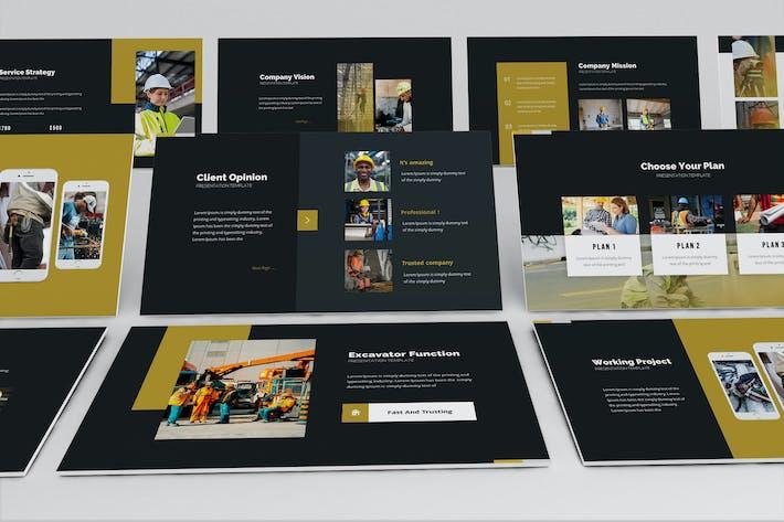 Шаблон презентации Powerpoint зоны архитектора