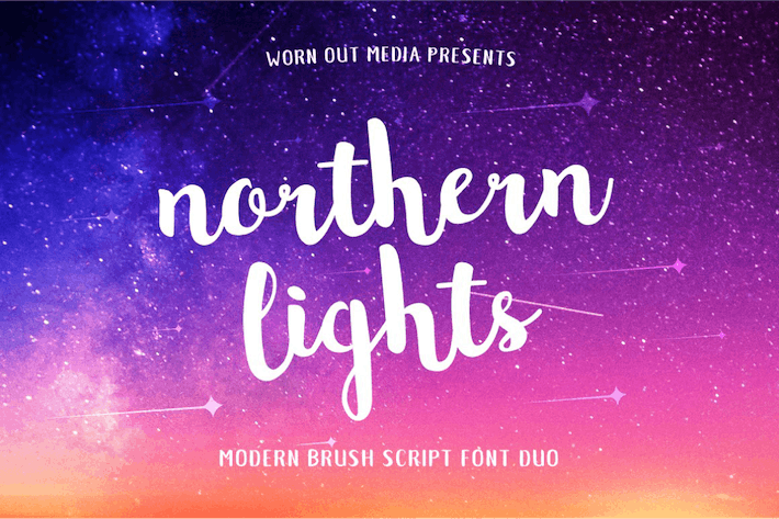 Thumbnail for Northern Lights Brush Script Font
