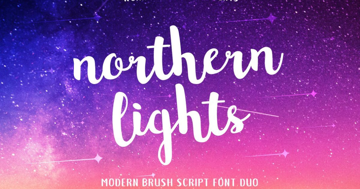 Download Northern Lights Brush Script Font by MPFphotography