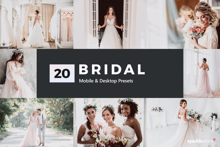 Thumbnail for 20 Bridal Lightroom Presets & LUTs