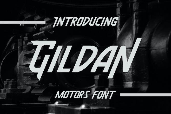 Thumbnail for Gildan - Motors Font
