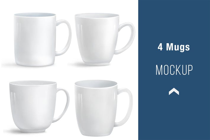 Thumbnail for 4 Mugs Mockup