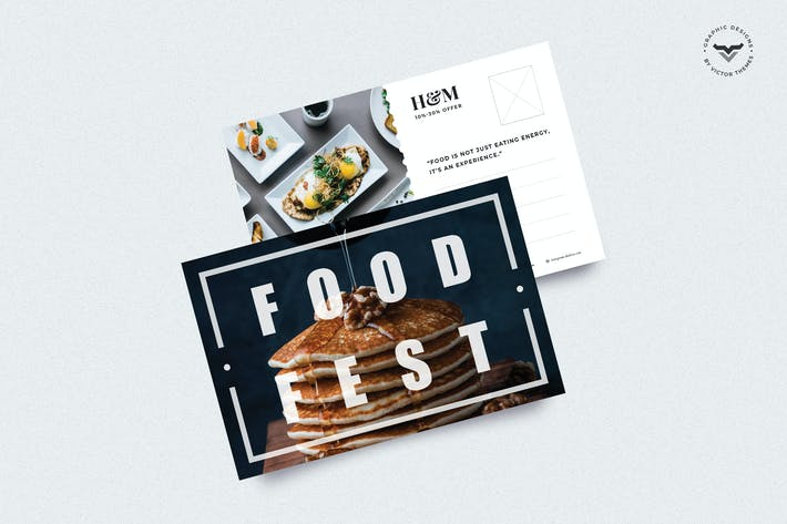 Cover Image For Restaurant Post Card Template